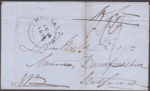 BRAZIL BRITISH POST OFFICE 1848 cover RIO DE JANEIRO cds to Scotland.......87483