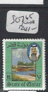 QATAR  (PP2306B)  SHEIKH, BOAT  SG 765  MNH