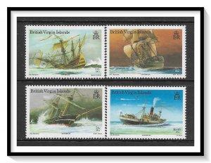 British Virgin Islands #572-575 Shipwrecks Set MNH