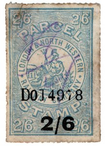 (I.B) London & North Western Railway : Parcel Stamp 2/6d
