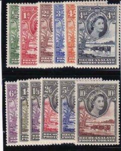 Bechuanaland 1955-1958 SC 154-165 Mint Set