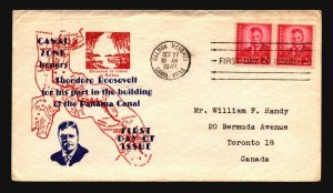 Canal Zone SC# 137 FDC / Pair / Cacheted (II) - L1592