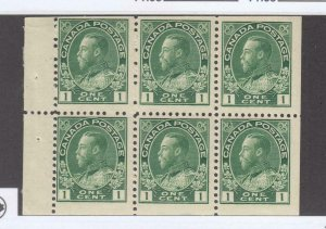 CANADA KX55 # 104a VF-MNH BOOKLET PANE CAT VAL $100
