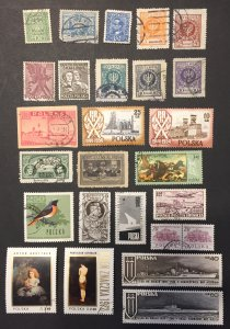 Poland Used #051621, 25 Qty, All Different!