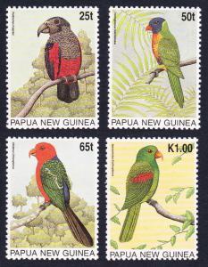 Papua New Guinea MNH 889-92 Parrots 1996