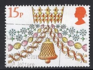 Great Britain  #931  used  1980  Christmas  15p