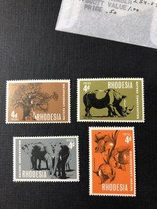 Rhodesia 254-257 MNH Set