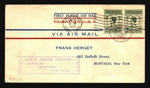 Curacao 1929 First Flight Cover to New York - Z17822