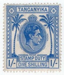 (I.B) KUT Revenue : Tanganyika Stamp Duty 1/-