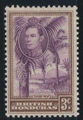 British Honduras  SG 152 SC # 117  Used purple violet shade please see scan