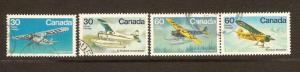 CANADIAN SET ON BUSH AIRCRAFT USED STAMPS  LOT#234