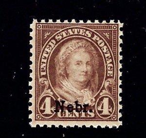 U.S. 673 MNH 1929 Nebr overprint