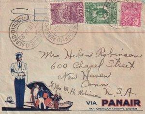 1932, Maceio, Brazil to New Haven, CT Via PANAIR, Back Stamped Maceio (41869)