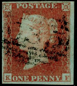 SG8, 1d red-brown, FINE USED. Cat £30. 4 MARGINS. KF