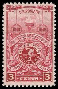 PCBstamps     US # 979 3c American Turners, 1948, MNH, (2)