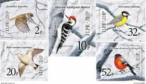 LUGANSK - 2020 - Birds of the Winter Forests - Imperf 5v Set - Mint Never Hinged