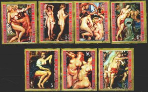 Equatorial Guinea. 1973. 285-91. Rembrandt, painting, nude. USED.
