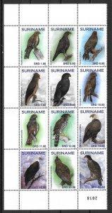 Surinam 1543 Brids of Prey block MNH