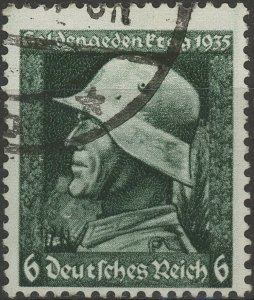 Stamp Germany Mi 569 Sc 452 1935 WW2 3rd Reich Memorial Soldier Hero WWI Used