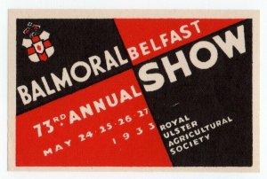 (I.B) Northern Ireland Cinderella : Balmoral Show (Belfast 1933)