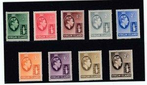 VIRGIN ISLANDS # 76-84 VF-MVLH KGV1 ISSUES