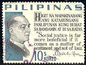 President Manuel L. Quezon, Philippines stamp SC#883E used