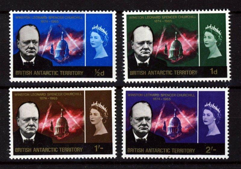 BRITISH ANTARCTIC TERRITORY 1966 Churchill Commemoration Set SG 16 to SG 19 MINT