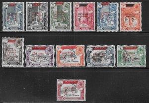 South Arabia Hadhramaut Michel 53-64 MNH c.v. 36 Euro