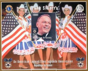 Guinea 1998 Frank Sinatra/Rotary & Lions/American Flag S/S