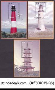 GRENADA - 2001 LIGHTHOUSE - SET OF 3 MINIATURE SHEET MNH