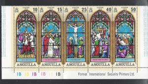 Anguilla, 144a, Easter 1972 Strip of 5, **MNH**