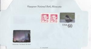 United States Voyageurs National Park Minesota 60c+10c Aerogramme Unused VGC