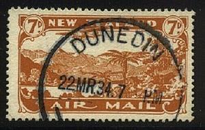 NEW ZEALAND 1931 7d airmail fine used - ACS cat NZ$30......................20647