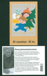 Denmark. Booklet  2000. 10 Christmas Seals Mnh. Ship,Bike,Car,Motorbike.