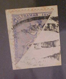 CUBA STAMP BISECT #51B cat.$125.00 on COVER THIS IS A PIECE
