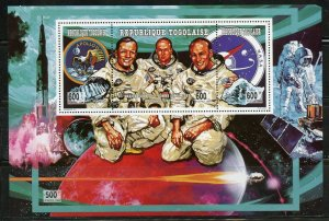 TOGO APOLLO 11 COLLINS, ARMSTRONG & ALDRIN SOUVENIR SHEET  MINT NH