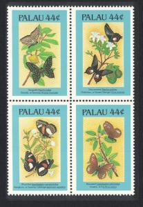 Palau Butterflies 1st series 4v Block of 4 SG#164-167