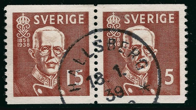 Sweden SC #276  Used Pair W/SON XF...Very Nice!