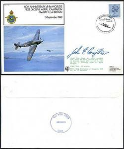 FF20b 40th Ann of the Worlds 1st Decisive Aerial Campaign Pilot Signed