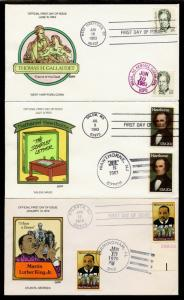 (5) DIFFERENT PEOPLE COLLINS FDC CACHET HAND PAINTED BQ1564