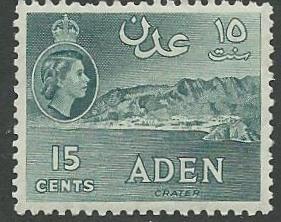 Aden #  50a  QE II  15c Gray-green    (1) Unused VLH