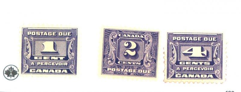 CANADA #J6-8 MINT OG HR J8 NG Cat $40