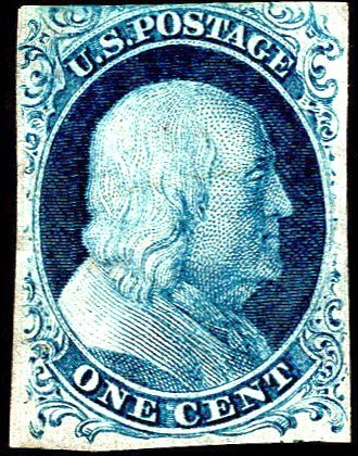 U.S. #7 Used F-VF Very faint cancel