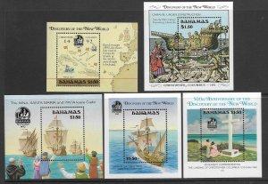 Bahamas 644,67,92,729,53 Columbus MNH S/S vf, 2020 CV $45.75