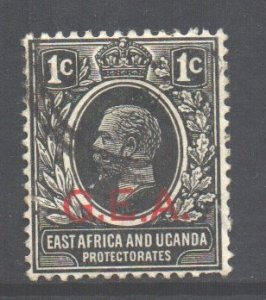 Tanganyika Scott N106 - SG45, 1917 GEA Overprint 1c used