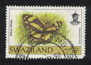 Swaziland Butterfly 'Pinacopteryx eriphia' 55c Imprint '2000' canc RARE D1