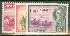 BJ: Gold Coast 130-141 mint CV $93.15; scan shows only a few