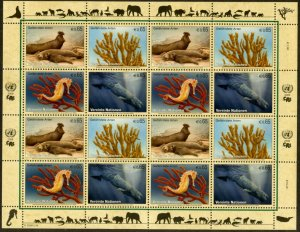 UNITED NATIONS Sc# NY 949-52 GE480-3 VI417-20 2008 Endangered Species Sheets MNH