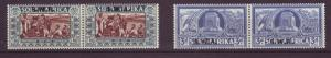 J19081 Jlstamps 1938 south west africa hv,s of  set mnh #b7-8 pairs