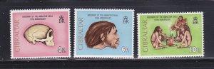 Gibraltar 296-298 Set MNH Prehistoric Man